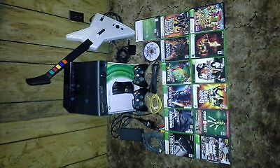 Microsoft Xbox 360S 4GB Console Bundle + Kinect + Games + Controllers + Guitar