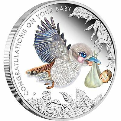 2014 Australia Newborn Baby Series 1/2oz Silver Proof Coin Illustrated Gift Card
