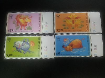 1997 Hong Kong Chinese New Year, Year of the Ox with margin, MNH
