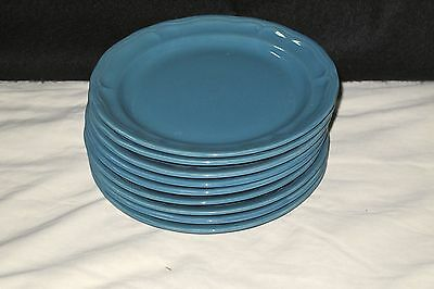 "EUC 8.5"" Salad Luncheon Plates Gray Blue Todd English Collections Lot of 9"
