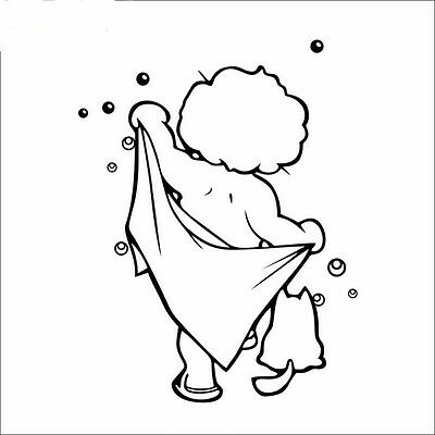 Kids Room Bathroom Cute Waterproof Removable Art Wall Stickers Decal Home Decor