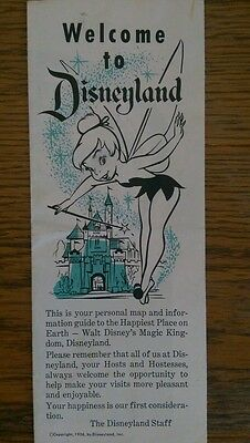 Welcome to Disneyland Tinkerbell brochure1956