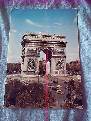 1976 POSTCARD L'arc de triomphe PARIS FRANCE
