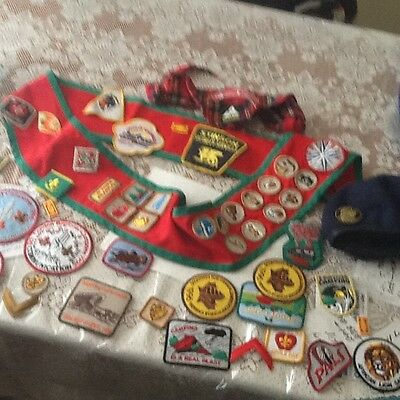 VINTAGE large lot of mostly scout patches and other.