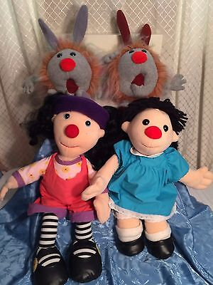 """VTG Big Comfy couch Molly Loonette doll plush 18"""" dust bunny 1995 set"""