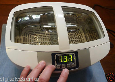 Ultrasonic Cleaning Machine + HEATING + Timer = Cleaner Jewelry; Glasses; Tools