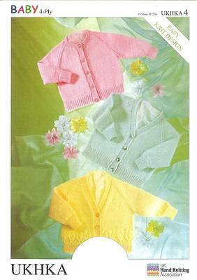 4 Ply Pattern Cardigans Wool Premature To 2 Years Baby Items 31-56 cm UKHKA4
