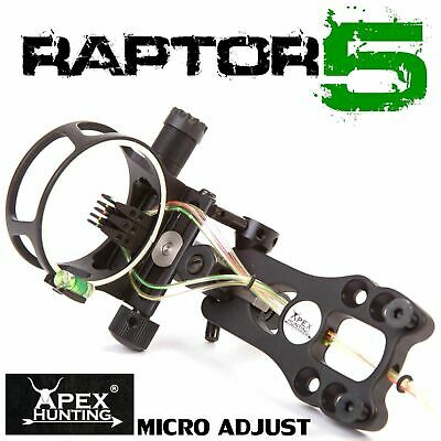 Raptor 5 - Fibre Optic Bow Sight For Compound Bows
