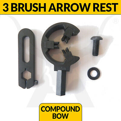 Brand New Black Three Brush Arrow Rest For Compound Bows Apex Hunting Archery