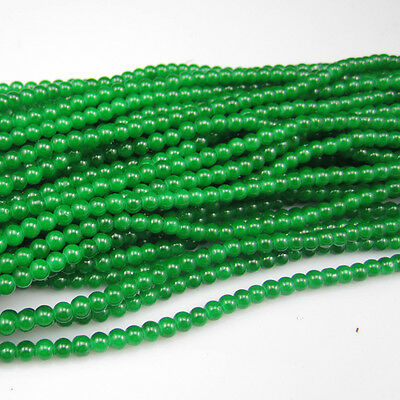 NEW 100pcs 4mm Ball Loose Glass crystal Beads for Fit Bracelets Necklaces D17