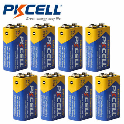 10pcs New Carbon Dry Cell Batteries 6F22 9V 9 Volt for Smoke Detector PKCELL
