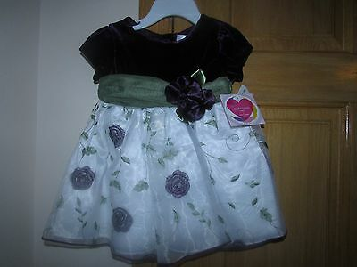 NWT YOUNGLAND Toddler Girl Gorgeous Spring/Easter Floral Dress Size 18 Months