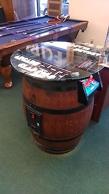 ms pacman galaga pac man  multicade wine barrel arcade sitdown by Game Warden