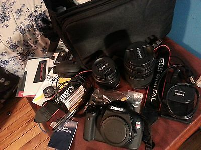 Canon EOS Rebel T3i / 600D 18.0 MP Digital SLR Camera - Black (Kit w/ EF-S IS...