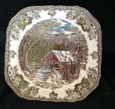 Johnson Brothers Friendly Village Made England The Covered Bridge Square Plate