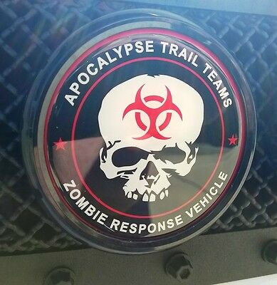 Black Trim FJ Cruiser Grille Badge - Trail Team Inspired ZOMBIE STYLE