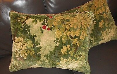 Scalamandre Throw pillow MARLY cut velvet Colony collection new ONE with defect