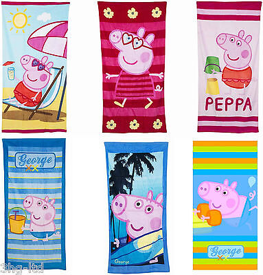 Peppa Pig Towel Beach Bath Childs - 5 Great Designs 70cm x 140cm New Official