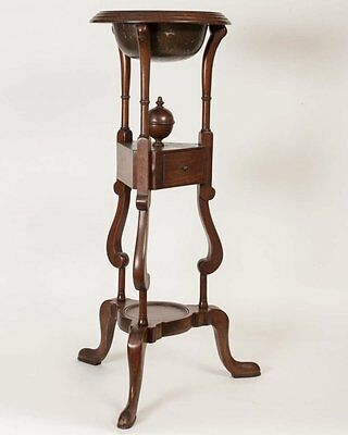 Rare Georgian Styled Mahogany Wig Stand-See Mount Vernon Collection