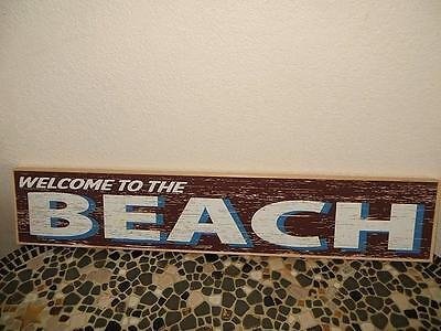 Brand New WELCOME TO THE BEACH Wood Sign*Nautical Home Decor