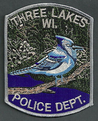 THREE RIVERS WISCONSIN POLICE PATCH
