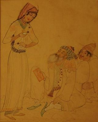 VERY FINE OLD ANTIQUE ISLAMIC MUGHAL QUAJAR ?  PERSIAN MINIATURE PAINTING