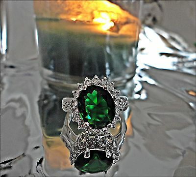 DRAGON guardian QUEEN 900 old money luck love RING 9 green haunted witch owned