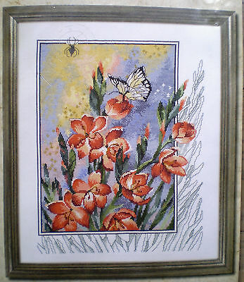 "Permin Of Copenhagen ""Spider In Flower"" Counted Cross Stitch Kit 16"" x 18 ½"""