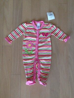 NWT Gymboree Girl BRAND NEW BABY Butterfly Striped Pajamas Gymmies  3-6 Months