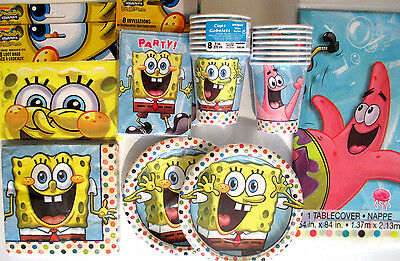 SpongeBob Square Pants - Birthday Party Supply DELUXE Kit w/ Invites & Bags