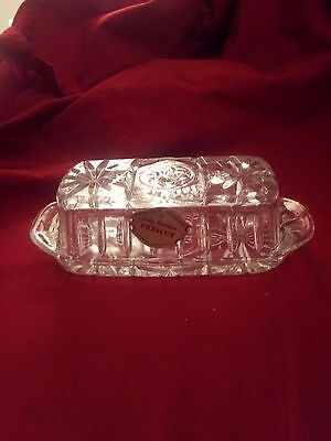 Vintage Star of David Butter Dish w tag Early American Prescut