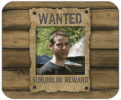Mouse Pad Custom Personalized Thick Mousepad-Wanted Poster-Add Any Text