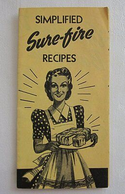 Vtg 40's BIG JO FLOUR RECIPE BOOKLET PAMPHLET w/SEND FOR PREMIUM COUPON