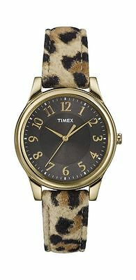 Timex Leopard Patterned Gold-tone  Ladies Watch T2P090 -35mm