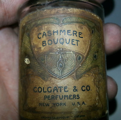 Rare Old Vintage Cashmere Bouquet Colgate Perfume Bottle Made in USA