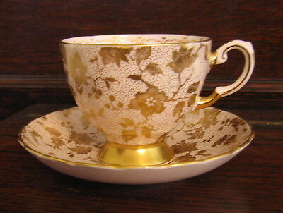 Tuscan Fine English Bone China Cup & Saucer, England, Pattern 9580 H (1947-1967)