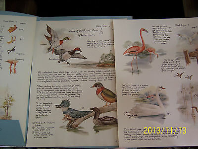 """CHINA PAINTING STUDY """"SMALL TALKS #4 NORMA GULICK"""" BIRDS OF MARSH & WATER"""" 4 PAG"""