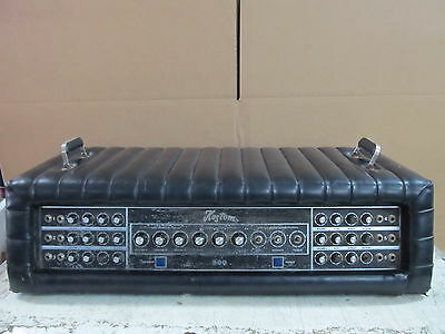 Vintage Kustom K300-5 Guitar Amp 6 channel Black Tuck & Roll For parts or Repair