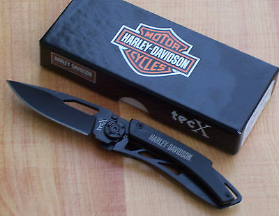 CASE TECX DINERO HARLEY DAVIDSON FOLDING MONEY CLIP POCKET KNIFE BLACK 52080 NEW