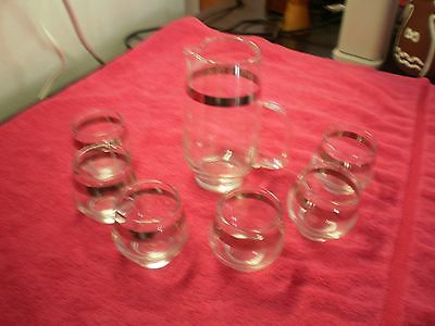 libbey small juice glasses and pitcher