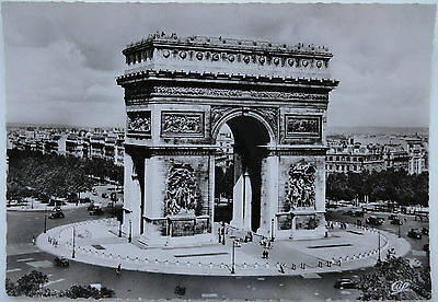 RPPC - Arc De Triomphe & Surroundings - Paris, France - Beautiful Picture!