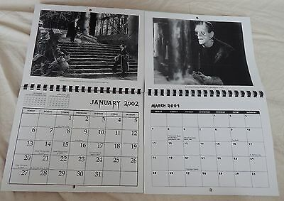 UNIVERSAL MONSTERS CALENDARS DRACULA FRANKENSTEIN 2001 2002 VERY OBSCURE CJ