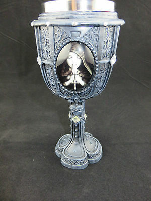 "Anne Stokes ""Gothic Prayer"" Goblet 20cm Angel fantasy Medieval Gothic Cup"
