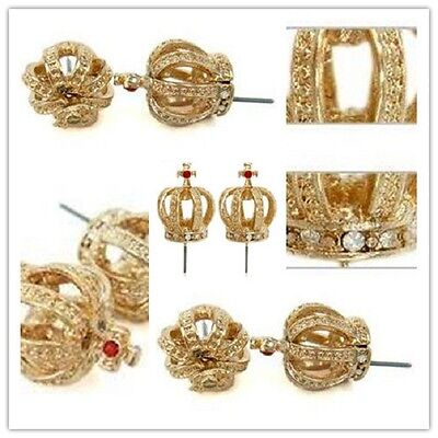 gold / silver crown earrings multiple colours