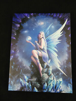 "Anne Stokes ""Stargazer"" Canvas Wall Art Plaque 25 x 19 cm Gothic Fantasy"