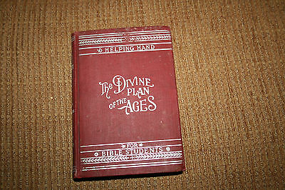 """Vintage 1907 """"The Divine Plan Of The Ages"""" Series 1 Watch Tower Book Hardback"""