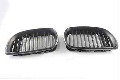 Matt Black Kidney Front Grille Grill for BMW E46 3 Series 2002-2005 4 doors only