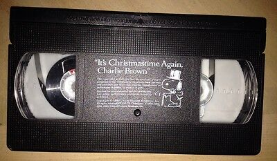 It's Christmas time Again Charlie Brown Peanuts Charles Schultz Snoopy VHS 1992