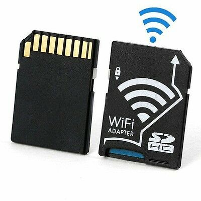 New Wireless WIFI Micro SD Flash TF Card to SD Card Share Adapter IOS Android