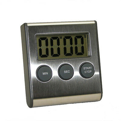 Digital Kitchen Cooking Timer,Countdown/Count Up Timer with Stainless Steel Face